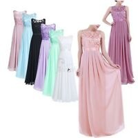 Women Long Chiffon Cocktail Evening Dress Formal Party Bridesmaid Prom Ball Gown