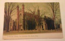 Vtg 1905 Undivided Back ROTOGRAPH Postcard OLD LIBRARY, YALE UNIVERSITY, CONN.