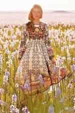 NEW Anthropologie Bhanuni Beaded Far Fields Floral Midi Peasant Dress 00P $248