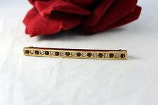 Gorgeous Swarovski Rhinestone Gold tone Bar Pin Brooch CAT RESCUE