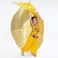 Girls Kids Handmade Belly Dance Costume Children's Angel Isis Wings (no stick )