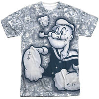 Authentic Popeye Tattooed Sailor TV Show Sublimation Allover Front T-shirt top