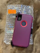 Protective belt clip case - iPhone Xs/X - berry - No Retail Packaging