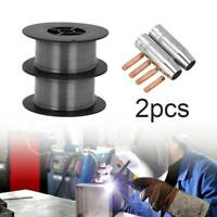 2Pcs Gasless (Flux Cored) 0.9mm MIG Welding Wire 0.45Kg (MB15 Tips And Shrouds)
