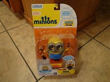 THINKWAY TOYS--MINIONS MOVIE--BOB WITH TEDDY BEAR FIGURE (NEW)