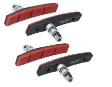1 juego Xlc Bs-v12 4 pastillas de freno V-brake 80 mm rojo