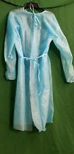 New listing 10pc Blue Isolation Gowns Elastic Cuff Fluid Resistant Polypropylene