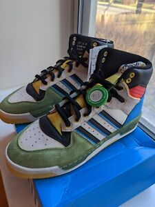 RARE! AUTHENTIC Adidas x BBC Hebru Brantley FlyBoy Rivalry Hi Art Basel Size 10