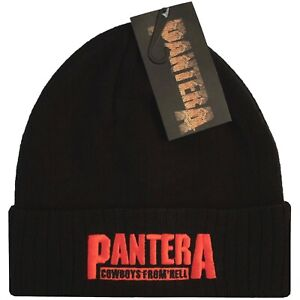 Pantera - Cowboys From Hell Embroidered Logo Official Licensed Beanie Hat