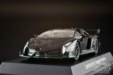 [KYOSHO 1/64] Lamborghini Veneno Roadster Black/Green Line Minicar Lottery
