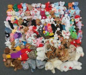 ~~115 TY BEANIE BABIES, CLASSICS, & PILLOW PALS COLLECTION LOT - WHOLESALE BULK