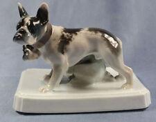 französische Bulldogge hundefigur porzellan rosenthal figur dogge 1920 bulldog