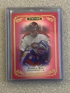 2019-20 UD STATURE RED 61/75 PATRICK ROY
