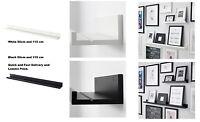 IKEA MOSSLANDA Picture Photo Ledge Rail Shelf,Black & White 55cm & 115cm Set,New