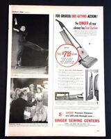 Life Magazine Ad SINGER VACUUM CLEANERS 1950 Ad