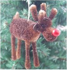 Gisela Graham Navidad Decoración-Cerda Reno Nariz Roja-La Decoración Del Árbol