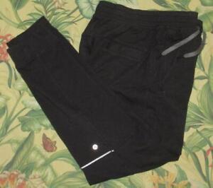 Mens LULULEMON Black Jogger Sweatpants Medium M