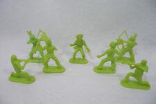 Lot de 7 INDIENS & COWBOY Vert plastique 6cm vintage 70's copie STARLUX