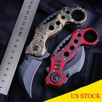 All Steel Folding Knife Mini Pocket Survival Dagger Blade Outdoor Rescue Saber