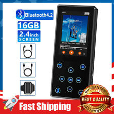 MP3 Player 16GB Bluetooth HiFi Lossless Sound 2.4'' LCD Screen FM Radio Voice