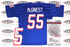 Willie McGinest Signed New England Custom TB Pro Style Jersey JSA Witnessed
