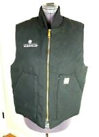 Carhartt Cotton Quilted Lined Work Vest Men's Sz L Excell Cond