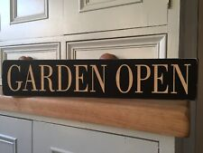 Garden Open Sign Pub Hotel Cafe Vintage Style Wooden Sign Manor House