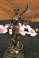 Hot Cast Signed Mayer Blind Justice Lawyer Office Gift Bronze Sculpture Statue