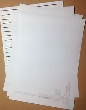 London, United Kingdom sketch letter writing paper & envelopes stationery
