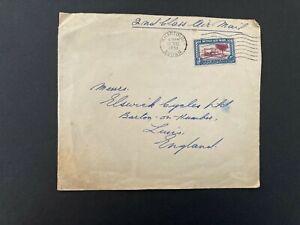 Postal History Sudan 1951 Air Mail Cover Khartoum to Barton on Humber, Lincs