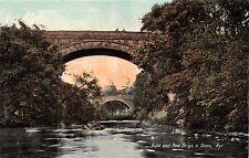AYR AYRSHIRE SCOTLAND UK AULD and NEW BRIGS O' DOON POSTCARD 1910s