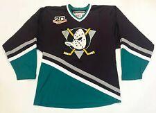 CCM Team Classic 20th Anaheim Mighty Ducks NHL Hockey Jersey Black L Sewn