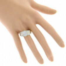White Sapphire Party Ring Jewelry Size 8 Fashion 18K Gold Plated Rings for Men
