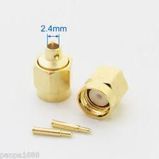 1pc Gold SMA Male Plug Solder RF Straight Connectors for RG405 semi-rigid cable