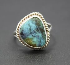 Native Style Turquoise & Sterling Silver Ring Size 7