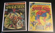 2 1970s SPIDER-MAN TREASURY EDITIONS! #14 (VF-), 18 (FN+/VF-) Bright & Colorful!