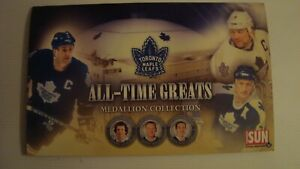 Toronto Maple Leafs 2008 All-Time Greats Medallion Collection A total of 20