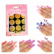 NAIL ART STENCIL STICKER - HOLLOW VINYL MANICURE GUIDE - NAIL PAINTING TEMPLATE
