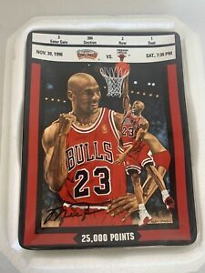 """MICHAEL JORDAN:TICKET TO GREATNESS- """"25,000 POINTS"""" Plate 1997"""
