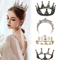 Renaissance Baroque Crown Bridal Wedding Headpiece Tiara Hair Accessories Queen