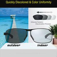 HD Polarized Photochromic Sunglasses Men Chameleon Driving Sun Glasses Eyewear