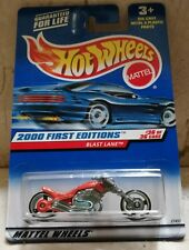 Hot Wheels BLAST LANE Motocicleta (Tipo Harley Davidson) 2000 First Editions