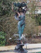 """Brunnen """"Frau mit Muschel"""" aus Bronze XL Sofort Lieferbar"""