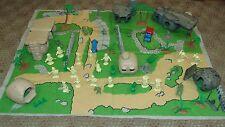 Vintage 1960's Marx Flintstone Village Play Set 50 Plus Pieces