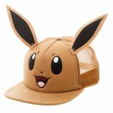 Pokemon EEVEE W/ Ears Logo Adjustable Snapback Trucker Cap/Hat