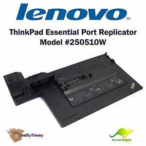 NEW Lenovo ThinkPad Port Replicator Model 250510W Docking Station T400 T500 W500