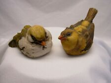 2 Vintage Artefice Ottanta Bird Figurines Made in Italy Signed D. Esposito 1981