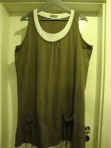 Kleid  Hängerchen Shirt  46 -  48 L XL   Tunika  Strandoutfit Strandkleid