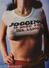 POSTER: JOGGING IS GOOD FOR THE LUNGS - SEXY FEMALE MODEL #3X05 RAP122 A
