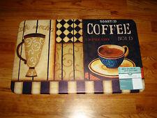"Anti Fatigue PVC Foam Kitchen Floor Mat Rug 30""x 18""  COFFEE Cafe Mocha CUPS!!"